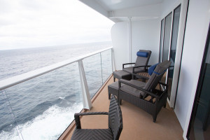 Royal Caribbean International launches Quantum of the Seas, the newest ship in the fleet, in November 2014 Grand Loft Suite with balcony.
