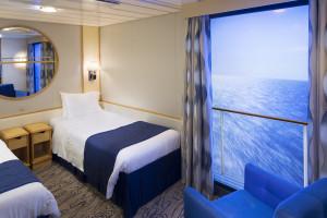 Inside Stateroom with Virtual Balcony Cat. J - Room #9259 - Deck 9 Midship Navigator of the Seas - Royal Caribbean International