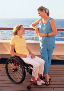 Wheelchair passenger cruise-ship